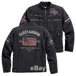 harley davidson hommes moto americana veste blouson en tissu 97577 16vm 000m. Black Bedroom Furniture Sets. Home Design Ideas