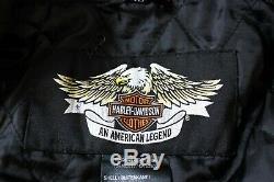Harley-Davidson Hommes Moto Fermeture Éclair Veste Blouson Manteau Taille XL
