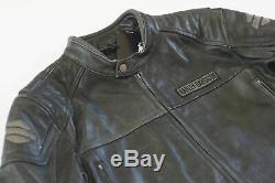 Harley Davidson Hommes Moyen Délavé Charbon Veste Cuir 98108-16VM M L 2XL