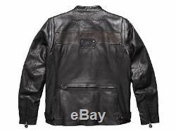 Harley Davidson Hommes Pénis G Ltd Convertible Veste Cuir Gilet 97157-17VM M L