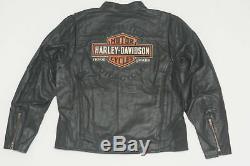 Harley Davidson Hommes Roadway Cuir Noir Veste B&S M L XL 2XL 3XL 98015-10VM
