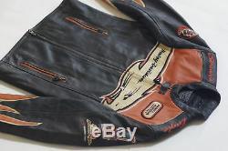 Harley Davidson Hommes Screamin Aigle Veste Cuir Victory Lap 98280-07VM M Rare