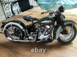Harley Davidson Knucklehead 1936 Franklin Mint 1/10 -Rare B11WW89
