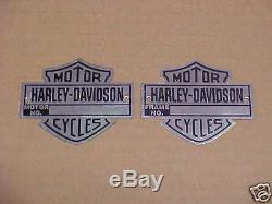 Harley Davidson Moto Cycle Badge Cadre ou Moteur Données Plaque Emblème Choix