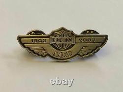 Harley-Davidson Moto Épinglette / Broche 4 Pièce Édition Spéciale 100 Années