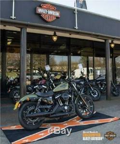Harley Davidson Moto Motocross MX Confédéré Personnalisé Garage Tapis
