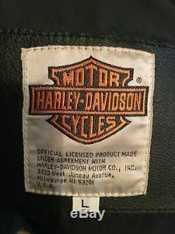 Harley Davidson Schott Nyc Cuir Vachette Moto Veste Motard Fabriqué en USA New L