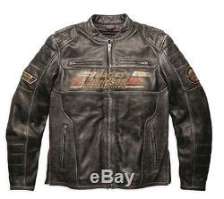 Harley-Davidson Veste en cuir ASTOR Moto Look-usé 97122-16VM/002L Taille XL