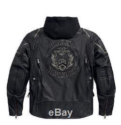 Harley-Davidson Veste en cuir COMBUSTION Veste moto 97093-16VM/002L Taille XL