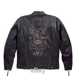 Harley-Davidson Veste pour moto PILOTE DE RALLYE Veste en cuir taille L