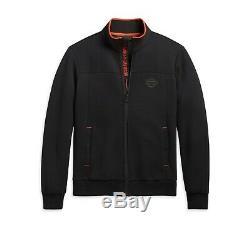 Harley-davidson Veste Homme Mockneck Activewear Noir Fonction 96274-20VH
