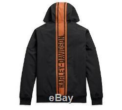 Harley-davidson Veste Homme Vertical Rayures 98408-20VM Noir Stretch à