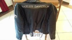 Harley-davidson veste en cuir noir (très bon état)