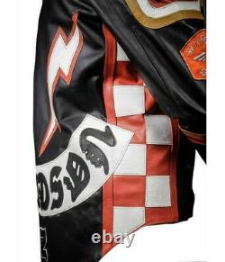 Hdmm Harley Davidson Stylé Mickey Rourke Vintage Décontracté Veste Motard Cuir