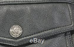 Hommes Harley Davidson Veste Cuir 2XL Noir Nevada 98122-98VM Barre Shield Liner