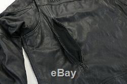 Hommes Harley Davidson Veste Cuir 2XL Noir Spoiler 98016-10VM Orifice Barre Zip
