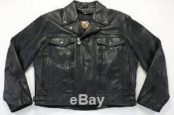 Hommes Harley Davidson Veste Cuir L Noir Nevada 98122-98VM Barre Bouclier Liner