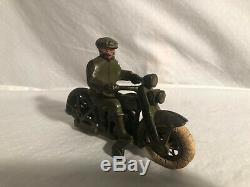Hubley Harley Davidson Moto Fonte Jouet 1930s