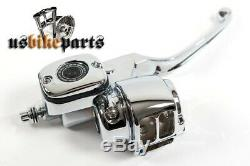 Kit commandes guidon chromé Harley-Davidson Big Twin Sportster custom moto
