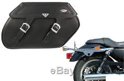 Klicbag 17L Sacoches de selle moto+Support pour Harley Davidson Sportster