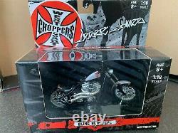 Lot de 9 motos West Coast Choppers Jesse James neuves en boîte