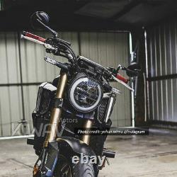 Magazi retro rond rétroviseur noir 10mm pour Buell Ulysses XB12XT Moto Guzzi