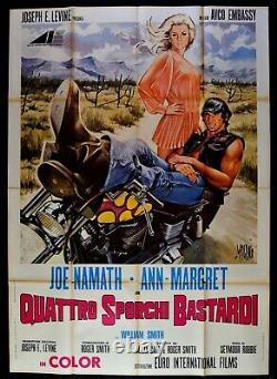 Manifesto Quattro Sales Bastardi Moto Harley Davidson Namath Margret M255