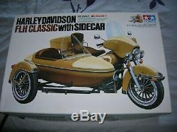 Maquette Moto Tamiya 1/6 Harley Davidson Flh Classic Side Car. Neuf