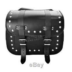 Moto Cuir Noir Sacoches Sacoche Harley Davidson pour Modèles (S)