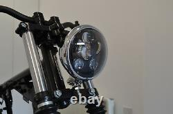 Moto Phare 6 Pouce LED Chrome pour Harley Davidson Dyna Sportster