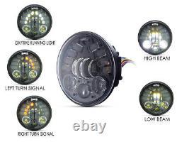 Moto Phare Insert LED Avec Clignotants 5.75 Inch Pour Harley Davidsons