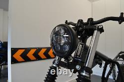 Moto Phare LED pour Harley Davidson Sportster Dyna 6 INCH LED