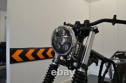 Moto Phare Noir et Chrome pour Harley Davidson 6 Pouce Projecteur LED