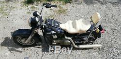 Moto électrique enfant 12V marque FEBER jouet vintage Harley Davidson