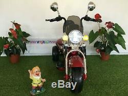 Moto électrique pour enfant 12V Look Harley Davidson Rouge métallisé
