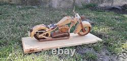 Moto en bois artisanat maquette reproduction moto motorcycle harley davidson
