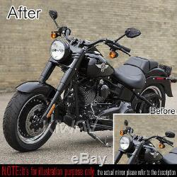 Moto rétroviseurs ViperII noir universel adjustable pour Harley-Davidson