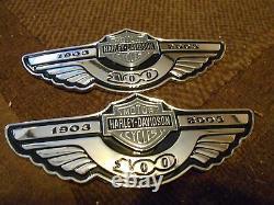 NOS Neuf 2003 Harley Davidson Harley-Davidson Motos Gas Carburant Tank Emblèmes