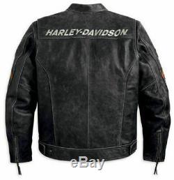 Nouveaux hommes en cuir noir veste Biker Cafe Racer rétro comme Harley Davidson
