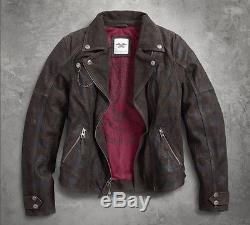 Original Harley-Davidson Femmes veste en cuir HANTER Moto 97156-17VWith000S Gr. S