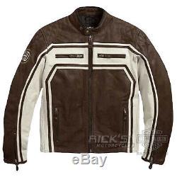 Original Harley-Davidson Veste de Moto en Cuir, Ce Approuvé, 97186-18EM