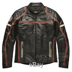 Original Harley-davidson Homme Moto Maytor Veste en Cuir 97016-19EM