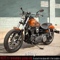 Pair convex rétroviseur Achilles noir + orange CNC pour KTM Moto Guzzi MV Agusta