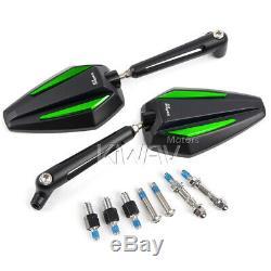 Pair convex rétroviseur Achilles noir + vert CNC pour KTM Moto Guzzi MV Agusta