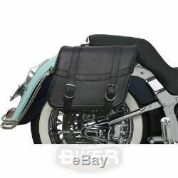 Paire de Sacoches Latérales Rigides Universelles Moto Custom et Harley Davidson