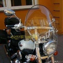 Pare-Brise Universel Modèle Grand pour Harley Davidson et Moto Custom