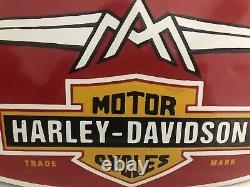 Plaque émaillée AERMACCHI HARLEY-DAVIDSON 46cm enamel Plate Moto