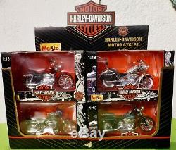 Présentoir 12 Moto HARLEY DAVIDSON Collector Edition MAISTO 118 Neuves MIB