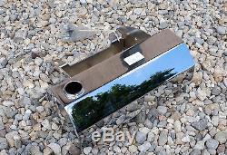 Réservoir d'Huile Chrome avec Support Batterie pour Motos et harley Davidson