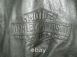 RARE Blouson cuir noir Harley Davidson (années'80) état neuf XXXL